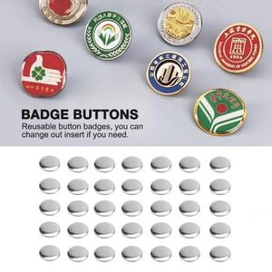 Image 2 - 2000pcs 핀 배지 버튼 25mm DIY 빈 핀 배지 버튼 부품 소모품 프로 버튼 메이커