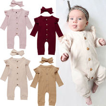 2020 Newborn Baby Girl Boy 2Pcs Cotton Clothes Knitted Long