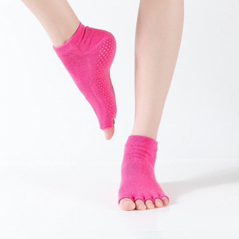 Unisex Sports Socks Anti Skid Half Five Toe Socks Breathable Anti Slip Half Finger Women's Ballet Dancing Yoga Socks