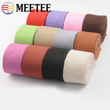 5Meters 38mm Width 2mm Thick Polyester Cotton Webbings For Backpack Strap Belt Canvas Ribbon Bias Binding Tape DIY Sewing Craft
