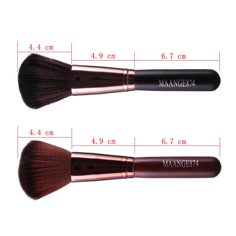Professional Makeup Blush Brush Flat Long Soft Contour Foundation Brush Face Cosmetics Beauty Tools Pincel Maquiagem in Eye Shadow Applicator from Beauty Health