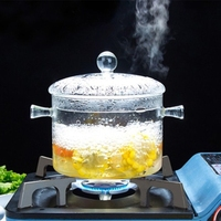 Transparent Glass Soup Pot Electric Ceramic Stove Heating Glass Bowl Cover Handmade Cooking Tools Home Cookware Kitchen Gadgets