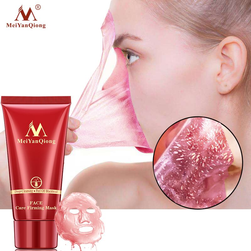 Deep Cleansing purifying peel off Black mud Facial face mask Remove blackhead facial mask strawberry nose Acne remover Face care 5