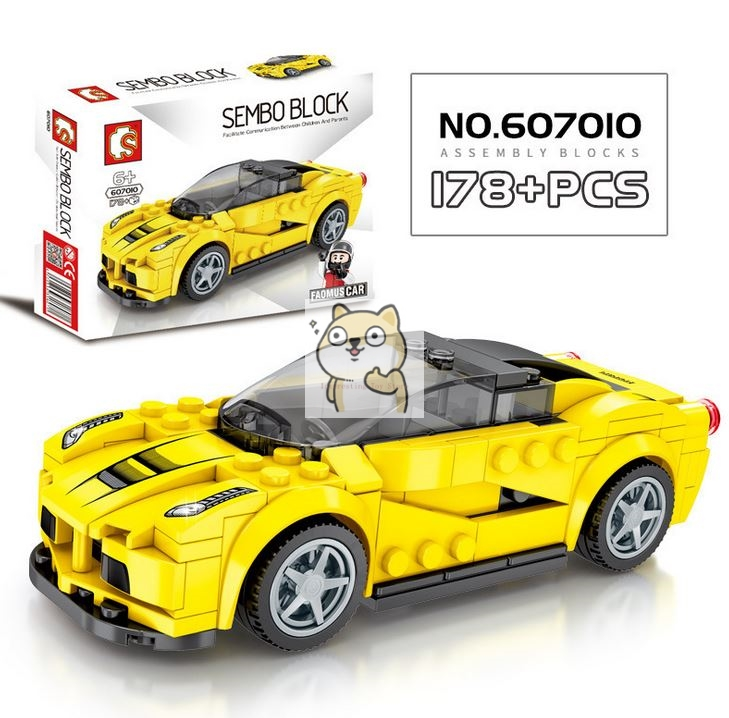 Детские сборные игрушки знаменитый автомобиль супер бегущий гоночный маленькие частицы Волшебные блоки для сборки конструктор-головоломка - Цвет: 010