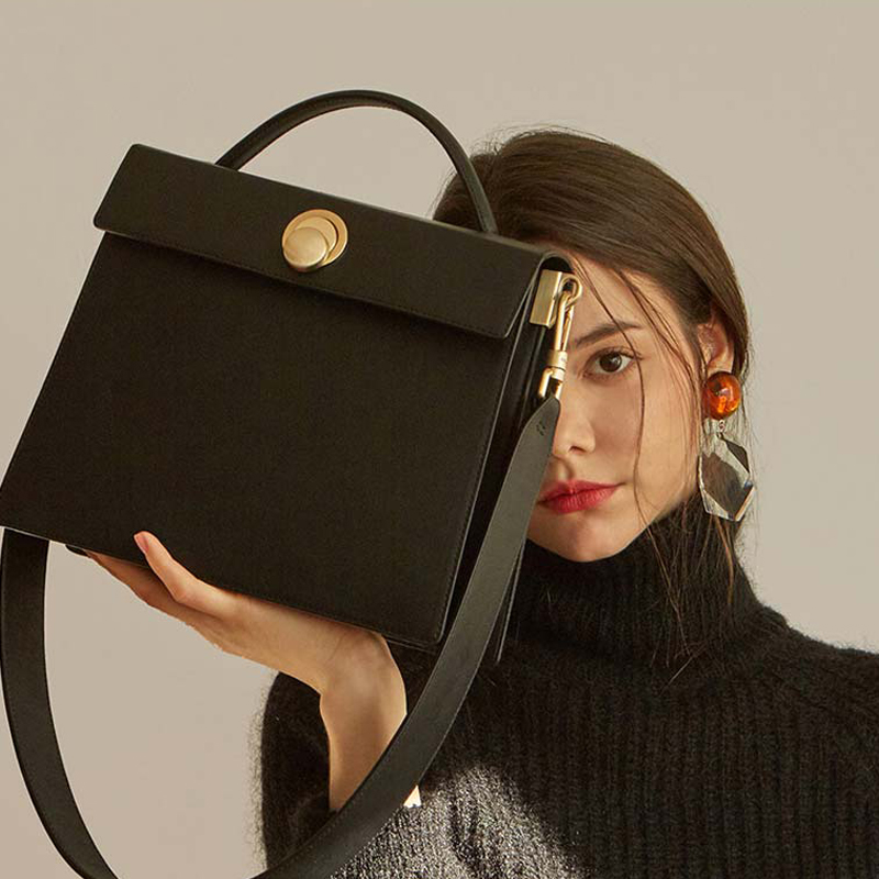 Fashion Square Women Shoulder Bags Designer Wide Strap Female Crossbody Bag Luxury Pu Leather Hanabags Lady Big Purses 2019 Sac