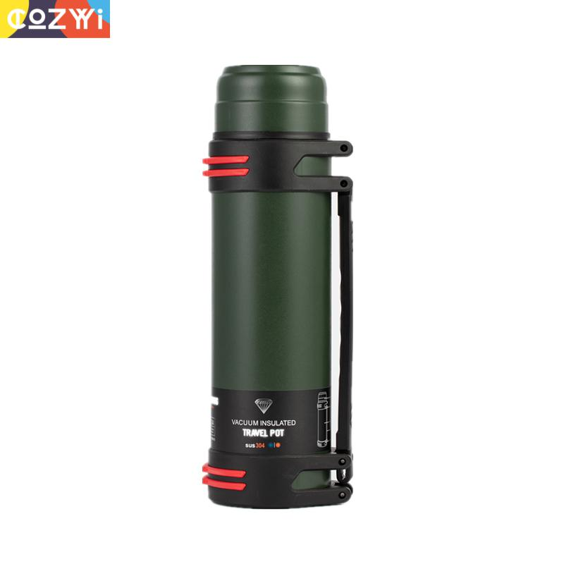 2L Insulated Flask Large Capacity Thermal Water Bottle Stainless Steel Outdoor