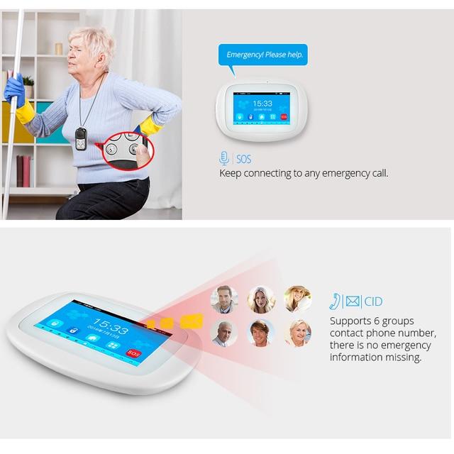 KERUI K52 Large Touch Screen Wireless GSM WIFI Home Security Alarm System Sensor Smoke Signal Device Surveillance IP Camera 3