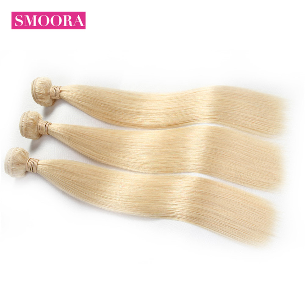 Straight Bundles with Lace Frontal Ear to Ear 13*4 Closure 613 Honey Blonde  Bundle with Frontal Smoora 2
