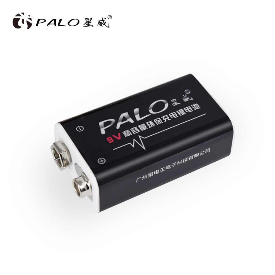 PALO 4 шт. Li-Ion 600mAh 9 V перезаряжаемые батареи батарея для GM300 ИК инфракрасный термометр дистанционное управление электронные продукты