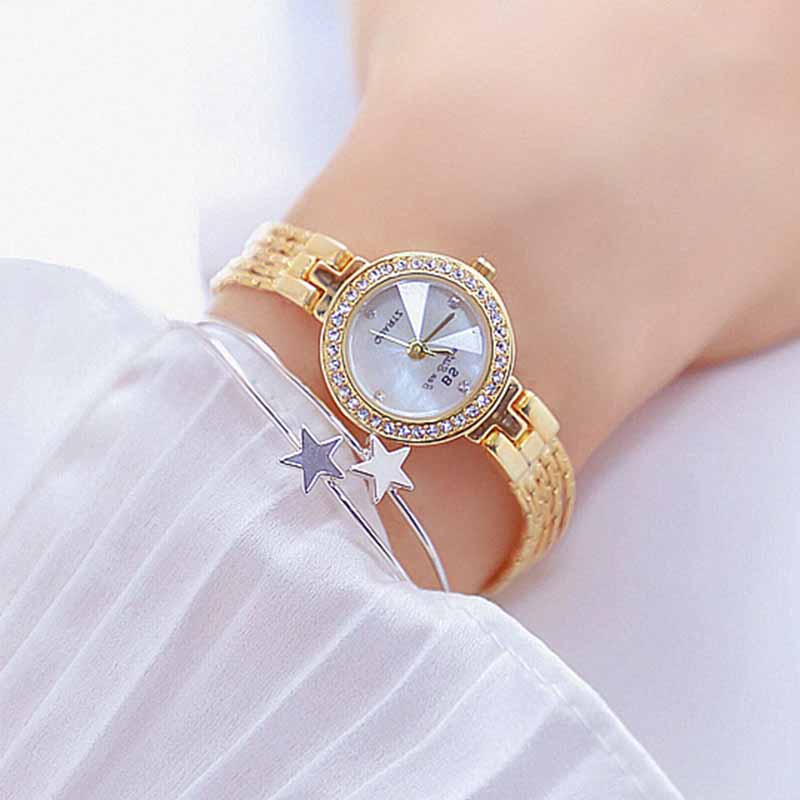 Watch Women Fashion Generous Watches For Women Women's Small Dial Quartz Watches Full Diamond Female Suitable For Dating Lady