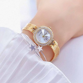 цены Watch Women Fashion Generous Watches For Women Women's Small Dial Quartz Watches Full Diamond Female Suitable For Dating Lady