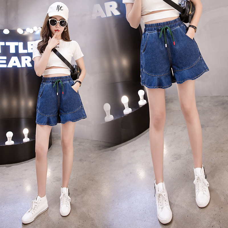 Denim Shorts Women's High-waisted 2020 Spring And Summer Large Size Dress 200 Of Fat Mm Students Korean-style Hot Pants