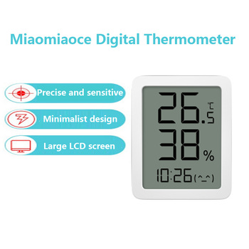 2020 New miaomiaoce MMC E-ink Screen LCD Large Digital display Thermometer Hygrometer Temperature Humidity Sensor Xiaomi Youpin
