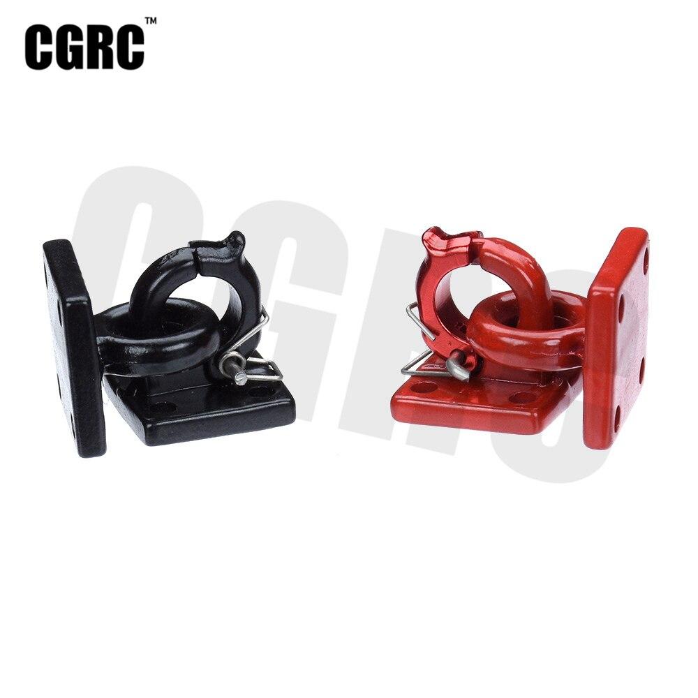 RC Car Metal Trailer Hook Rescue Button Decoration For 1/10 RC Crawler Car TRX4 RC4WD D90 Axial Scx10 Wraith CC01 Tamiya VS4