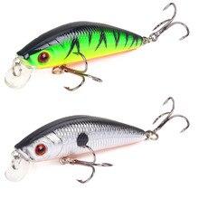 Sufyu 1 pçs minnow isca de pesca 7cm/8.5g 3d olhos crankbait wobbler artificial isca dura três âncora gancho pesca equipamento