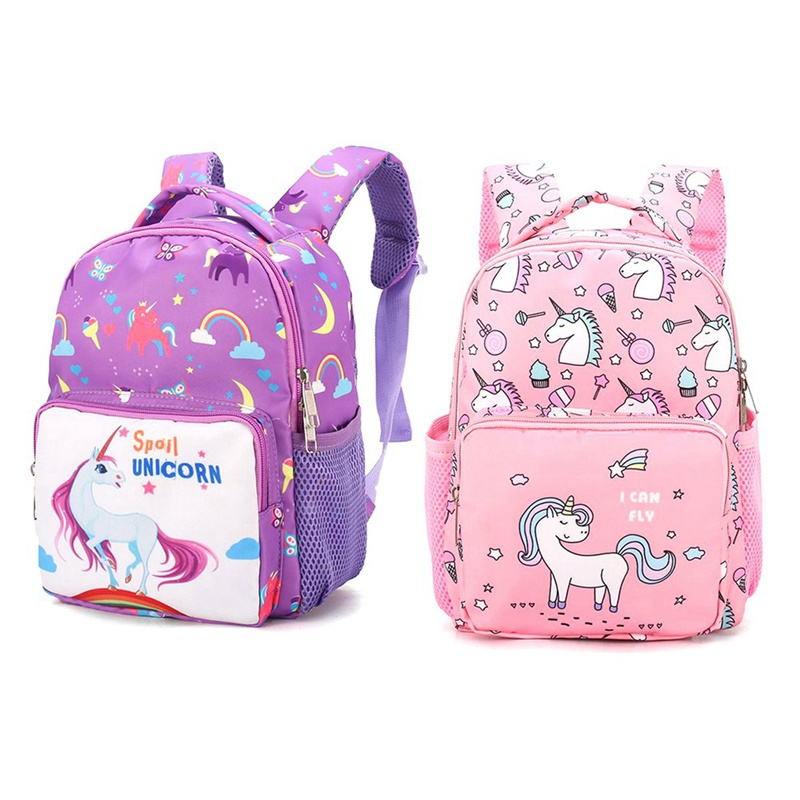 Cute Unicorn Girls Children School Bags Cartoon Printing Primary Backpacks Book Capacity Bags Satchel For Child 2-5 Years Old