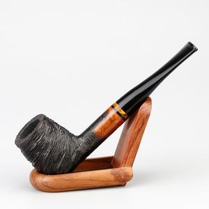 Image 3 - Классическая деревянная трубка Briar, 9 мм, фильтр, фотография, случайная гравировка, трубка Briar, курительная трубка, набор бесплатных инструментов