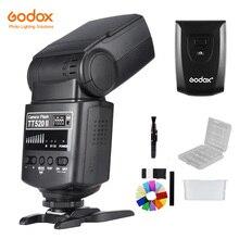 Godox TT520 II flaş TT520II ile Build in 433MHz kablosuz sinyal + verici kiti Canon Nikon Pentax için olympus DSLR kameralar