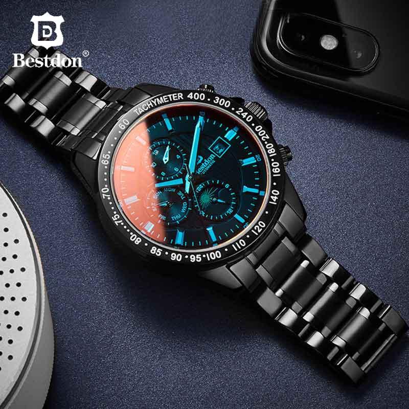 Bestdon Military Mechanical Watch Men Sapphire Crystal Waterproof Automatic Sports Watches Man Luxury Brand Relogio Masculino