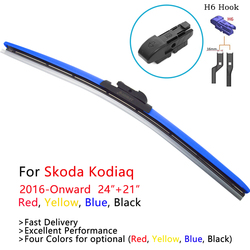 HESITE Colorful Wiper Blades For Skoda Kodiaq 2016 2017 2018 2019 2020 Accessories Hybrid Wipers For Karoq Car Model Red Yellow