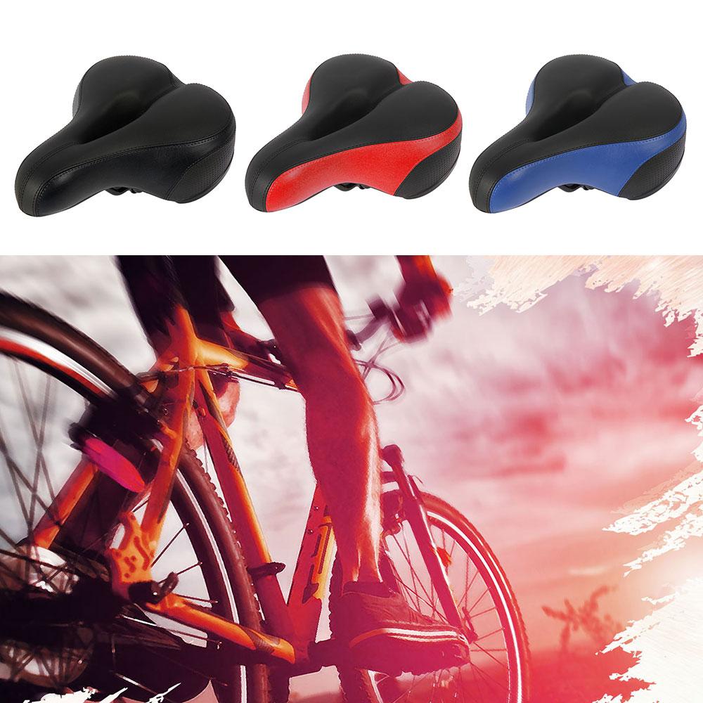 Vehicle - Comfortable Wide Big Bum Bike Bicycle Gel Extra Sporty Soft Pad Saddle Seat