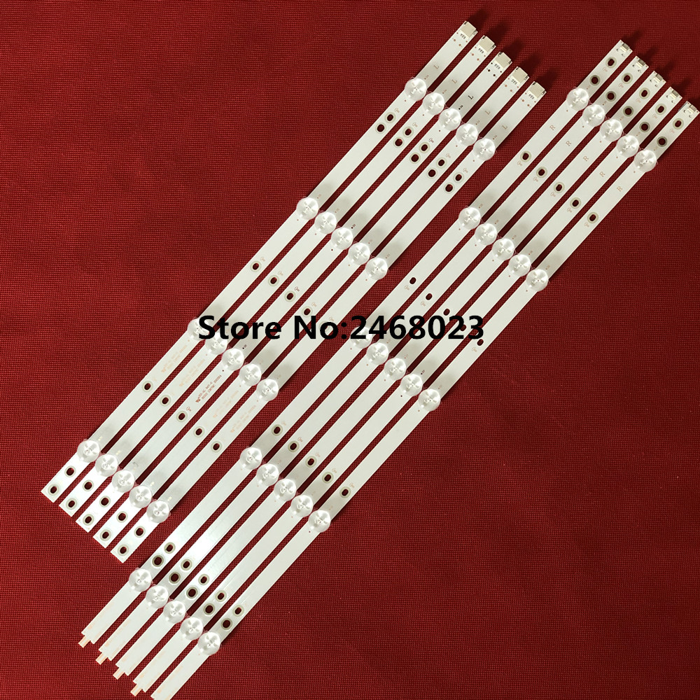 10pcs/set LED Backlight Strip For 50PUS6162/12 50PUS6703 50PUS6753 50PUS7383/12 50PUS6523/12 50PUS6503 LB50086 LB50082 LB50089