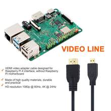 1.5M HDMI Video Adapter Cable Micro HDMI To HDMI HD Video Cable 4K For Raspberry Pi 4/4B Connect Digital Camera & Game Console(China)