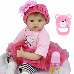 Bebe Bambola reborn 22 pollici molle del silicone reborn baby doll giocattoli per il regalo dei bambini reborn bambino bonecas