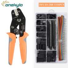 IWISS SN-28B with1550Pcs dupont crimping tool plier terminal crimper wire hand tool set Mult tools for electrical cable