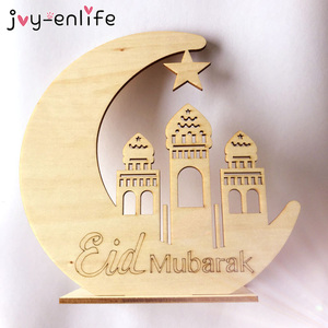 Image 5 - Ramadan Eid Mubarak Decorations For Home Moon Wooden Plaque Hanging Ornaments Islam Muslim Festival Event Party Supplies
