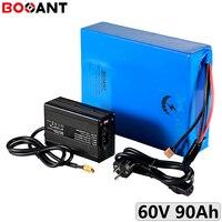 5000W poderoso 7000W 60V 90Ah bicicleta elétrica da bateria de iões de lítio para Panasonic 18650 60 16 celular S V bateria ebike com Carregador 15A|Bateria de bicicleta elétrica| |  -