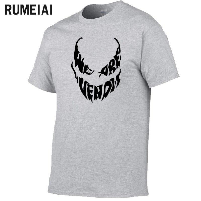 Men T-shirt 2019 We Are Venom T Shirt Superhero Cool Anime Camiseta Homme 100% Cotton Originality Comic T-shirt