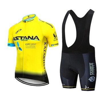2020 preto astana roupas de ciclismo bicicleta jérsei secagem rápida dos homens roupas verão equipe ciclismo jérsei 9dgel bicicleta shorts conjunto 10