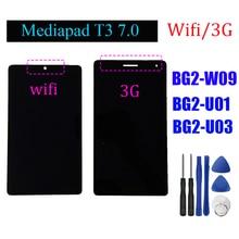 """7 """"для Huawei Mediapad T3, ЖК дисплей с дигитайзером сенсорного экрана, для Huawei Mediapad T3, с цифровым преобразователем, в сборе, с ЖК дисплеем и инструментами, для BG2 W09"""
