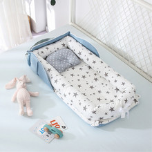 Portable Baby Nest Bed for Boys Girls Travel Bed Infant Cotton Cradle Crib Baby Bassinet Newborn Bed(China)