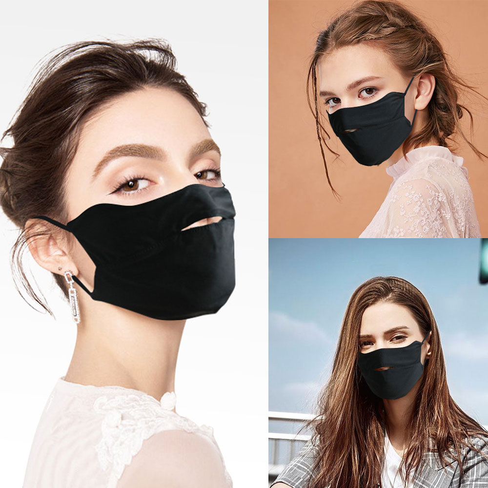 1Pcs Ice Silk Face Mouth Mask For Sun UV Protection Breathable Mouth Mask Washable Anti Dust Mouth Mask For Summer Cycling New