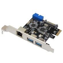 USB 3,0 Ethernet адаптер 3 Порты и разъёмы USB 3,0 концентратор 10/100/1000 Мбит/с PCI-E на RJ45 гигабитный сетевой адаптер Usb Ethernet сетевой карты