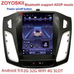 Zoyoskii Android 9.0 10.4 Inch Ips Verticale Screen Auto Gps Multimedia Radio Navigatie Speler Voor Ford Focus 3 Salon 2012 -2018