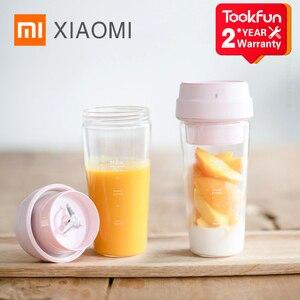 Image 1 - XIAOMI MIJIA 17PIN Stern Obst Tasse Kleine Tragbare mixer Entsafter mixer Küche küchenmaschine 400ML lade 30 Sekunden entsaften