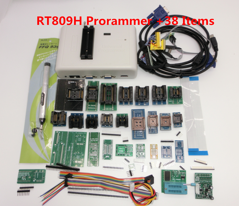 Newest Software ORIGINAL RT809H +38  Items  EMMC-Nand FLASH Extremely Fast Universal Programmer