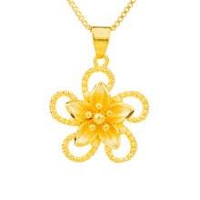Маленькие подвески в виде цветка золотые серебристые медные