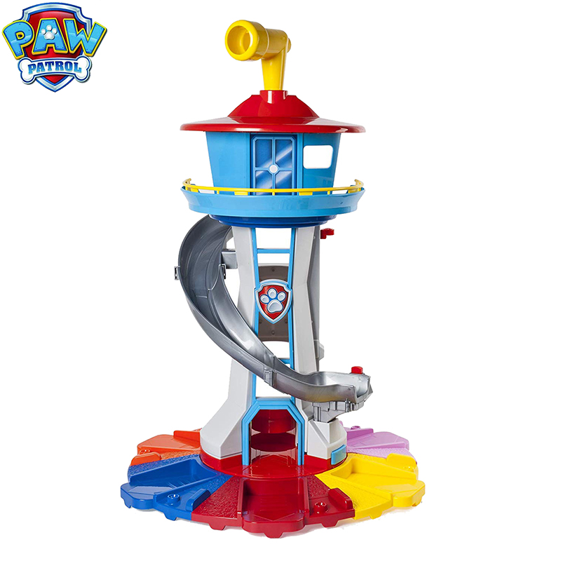 Paw Patrol Tower Puppy Patrol Headquarters With Music Patrulla Canina Paw Patrol Toys Set Oversized Watchtower Christmas Gift