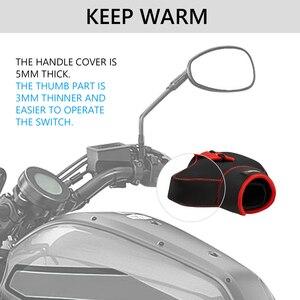 Image 5 - Guanti Da moto manubrio leve guanti Scooter Bar Mano Inverno Guanti ATV Guanti di Pelliccia Moto Quad Bike Impermeabile