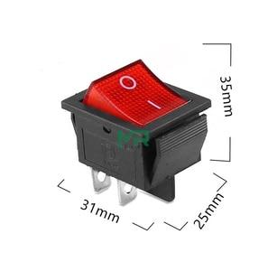 Image 2 - KCD4 кулисный переключатель ВКЛ ВЫКЛ 2 положения 4 контакта/6 контактов электрическое оборудование с светильник выключатель питания колпачок 16A 250VAC/ 20A 125V