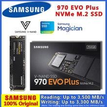 100% original samsung 970 evo plus m2 ssd 2 tb 1 tb 500 gb 250g m.2 nvme 2280 discos rígidos internos hdd para computador portátil desktop disco