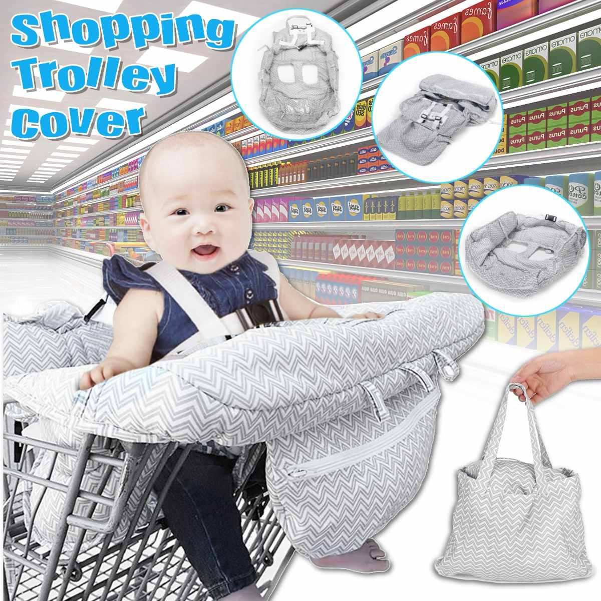 Foldable Baby Supermarket Shopping Cart Cover Baby Safety Seats Kids Chair Mat Anti-Stain Dirty For Shopping Troller High Chair