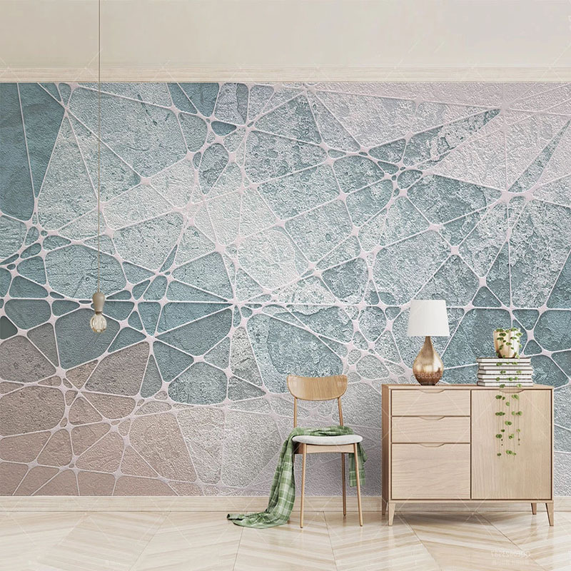 Modern Simple Nordic Geometric Wallpaper Living Room Bedroom Background Wall Painting Triangle Line Murals Papel De Parede 3 D