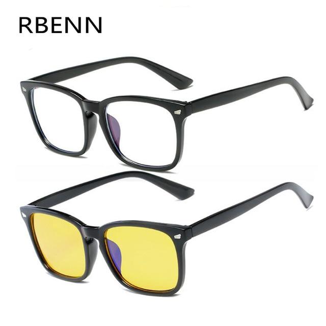 RBENN Anti Blue Light Computer Men Glasses Women Blue Light Blocking Eyewear Radiation Protection Gaming Eyeglasses Frame