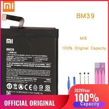 Оригинальный аккумулятор для телефона Mi6 батарея Xiaomi Mi 6 BM39 сменные батареи Xiomi bateria для Xiaomi Mi6 M6