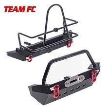 Parachoques trasero y delantero de Metal para coche teledirigido 1/10 Crawler Traxxas TRX4 Defender Bronco Axial SCX10 SCX10 II 90046 90047